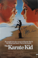 """Ralph Macchio Signed """"The Karate Kid"""" 24x36 Movie Poster Inscribed """"Wax On!"""" (ACOA COA) at PristineAuction.com"""