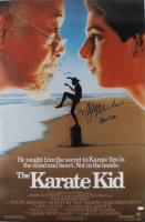 "Ralph Macchio Signed ""The Karate Kid"" 24x36 Movie Poster Inscribed ""Daniel San"" (AutographCOA COA) at PristineAuction.com"