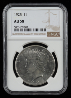 1925 Peace Silver Dollar (NGC AU58) at PristineAuction.com