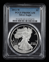 2012-W American Silver Eagle $1 One Dollar Coin (PCGS PR69 Deep Cameo) at PristineAuction.com