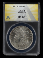 1921 Morgan Silver Dollar (ANACS MS63) at PristineAuction.com
