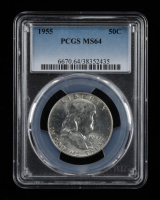 1955 Franklin Silver Half Dollar (PCGS MS64) at PristineAuction.com