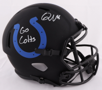 "Quenton Nelson Signed Colts Eclipse Alternate Full-Size Speed Helmet Inscribed ""Go Colts"" (JSA COA) at PristineAuction.com"