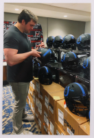 """Quenton Nelson Signed Colts Eclipse Alternate Full-Size Speed Helmet Inscribed """"Go Colts"""" (JSA COA) at PristineAuction.com"""