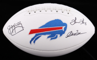 Andre Reed, Thurman Thomas, & Jim Kelly Signed Bills Logo Football (JSA COA) at PristineAuction.com