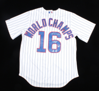 Javier Baez, Anthony Rizzo, & Kris Bryant Signed LE 2016 Cubs World Series Champions Jersey LE #1/16 (MLB Hologram) at PristineAuction.com
