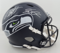 Shaquem Griffin & Shaquill Griffin Signed Seahawks Full-Size Speed Helmet (JSA COA) at PristineAuction.com