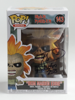 "Nicko McBrain Signed ""Iron Maiden"" #143 ""Iron Maiden Eddie"" Funko Pop! Vinyl Figure Inscribed ""2021"" (PSA COA & Beckett COA) at PristineAuction.com"