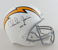 "Charlie Joiner Signed Chargers Full-Size Helmet Inscribed ""HOF 96"" (JSA COA) at PristineAuction.com"