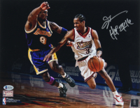 """Allen Iverson Signed 76ers 11x14 Photo Inscribed """"HOF 2016"""" (Beckett COA) at PristineAuction.com"""