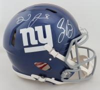 Daniel Jones & Saquon Barkley Signed Giants Full-Size Authentic On-Field Speed Helmet (Beckett COA & Panini COA) (See Description) at PristineAuction.com