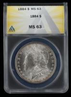 1884 Morgan Silver Dollar (ANACS MS63) at PristineAuction.com