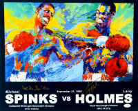 Larry Holmes & Mike Spinks Signed 16x20 Print (JSA COA) (See Description) at PristineAuction.com