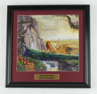 "Thomas Kinkade ""The Lion King"" 16x16 Custom Framed Print Display at PristineAuction.com"