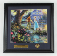 """Thomas Kinkade """"Princess and The Frog"""" 16x16 Custom Framed Print Display with Movie Pin (See Description) at PristineAuction.com"""