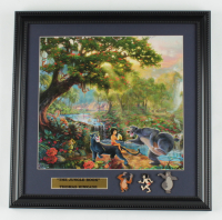 "Thomas Kinkade ""The Jungle Book"" 16x16 Custom Framed Print Display with (3) Movie Pins at PristineAuction.com"