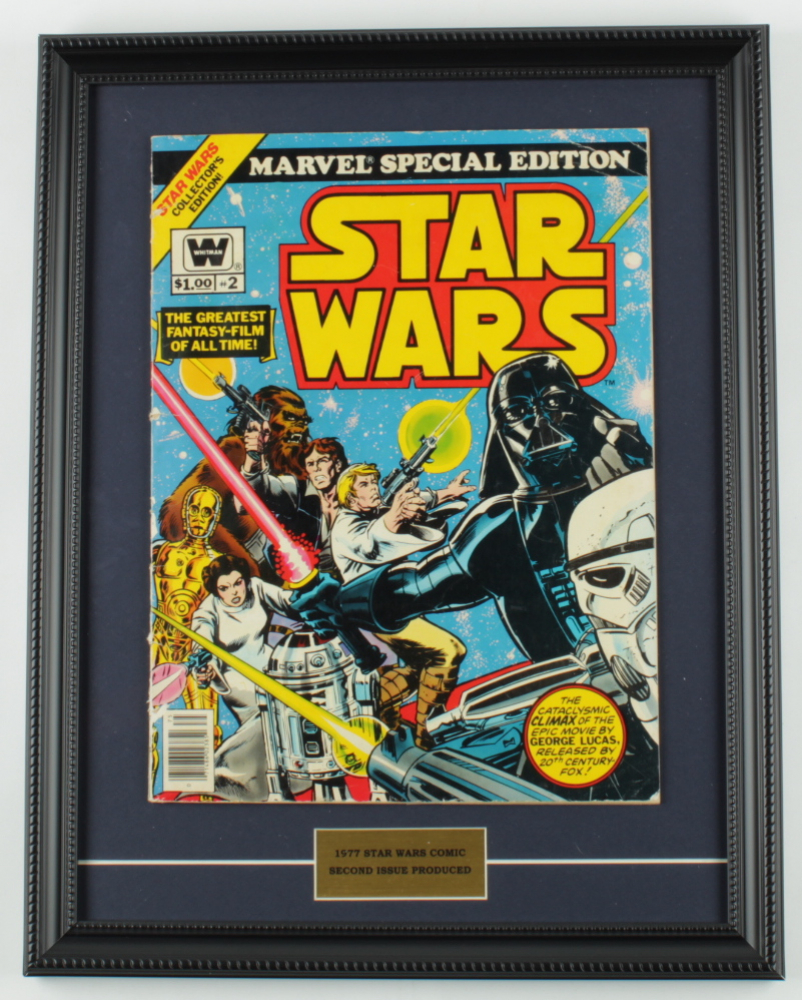 """1977 Original Second Issue """"Star Wars"""" 15x19 Custom Framed Comic Book at PristineAuction.com"""