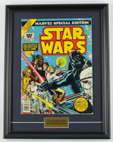 "1977 Original Second Issue ""Star Wars"" 15x19 Custom Framed Comic Book at PristineAuction.com"