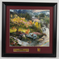 "Thomas Kinkade ""Bambi"" 16x16 Custom Framed Print Display with Movie Pin at PristineAuction.com"