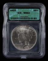 1923 Peace Silver Dollar (ICG MS63) at PristineAuction.com