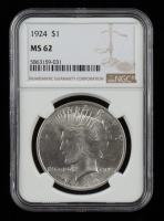 1924 Peace Silver Dollar (NGC MS62) at PristineAuction.com