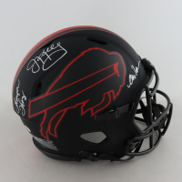 Jim Kelly, Thurman Thomas & Andre Reed Signed Bills Full-Size Authentic On-Field Lunar Eclipse Alternate Speed Helmet (JSA COA) at PristineAuction.com