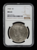 1925 Peace Silver Dollar (NGC MS61) at PristineAuction.com