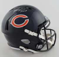 "Mike Singletary Signed Bears Full-Size Speed Helmet Inscribed ""HOF 98"" (Beckett COA) (See Description) at PristineAuction.com"