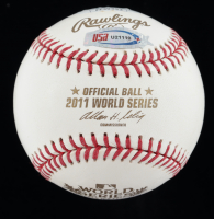 Albert Pujols Signed 2011 World Series Baseball With Display Case (JSA COA) at PristineAuction.com