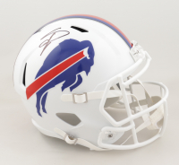Stefon Diggs Signed Bills Full-Size Speed Helmet (Beckett Hologram) at PristineAuction.com
