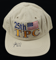 Justin Leonard Signed 25th TPC Logo Imperial Adjustable Hat (JSA COA) at PristineAuction.com