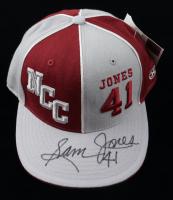 Sam Jones Signed North Carolina Central Eagles Headmaster Campus Wear Fitted Hat (JSA COA) at PristineAuction.com