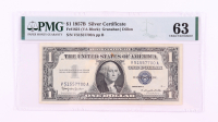 1957-B $1 Silver Certificate Bank Note (PMG 63 Choice Uncirculated) at PristineAuction.com