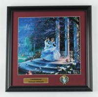 "Thomas Kinkade ""Cinderella"" 16x16 Custom Framed Print Display with Movie Pin at PristineAuction.com"
