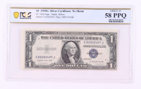 1935-G $1 Silver Certificate Bank Note, No Motto (PCGS 58 Choice About Uncirculated PPQ) at PristineAuction.com