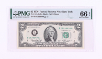 1976 $2 New York Federal Reserve Bank Note (PMG 66 Gem Uncirculated EPQ) at PristineAuction.com