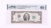 1976 $2 New York Federal Reserve Bank Note (PMG 65 Gem Uncirculated EPQ) at PristineAuction.com