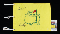 Gary Player & Ben Crenshaw Signed 2012 Masters Pin Flag (JSA COA) at PristineAuction.com