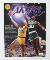 Kareem Abdul-Jabbar Signed Lakers 8x11 Print (JSA COA) at PristineAuction.com