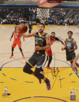 Stephen Curry Signed Warriors 11x14 Photo (Beckett COA) at PristineAuction.com