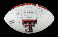 Michael Crabtree Signed Texas Tech Red Raiders Logo Football (JSA COA) at PristineAuction.com