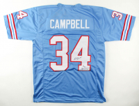 "Earl Campbell Signed Jersey Inscribed ""HOF 91"" (Beckett COA) at PristineAuction.com"