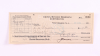 Charles Edison Signed Hand-Written 1933 Personal Bank Check (JSA COA) at PristineAuction.com