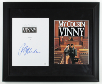 "Ralph Macchio Signed ""My Cousin Vinny"" 18.25x22.25 Custom Framed Script Cover Display (AutographCOA COA) (See Description) at PristineAuction.com"