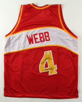 """Spud Webb Signed Jersey Inscribed """"Slam Dunk Champ 86"""" (Beckett COA) at PristineAuction.com"""