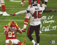 "Devin White Signed Buccaneers 8x10 Photo Inscribed ""SB LV Champs"" (Beckett Hologram) at PristineAuction.com"