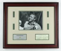 """Arnold Palmer """"The Masters"""" 19x23 Custom Framed Photo Display with Official Score Card at PristineAuction.com"""