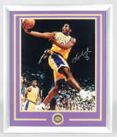 Kobe Bryant Signed Lakers 22x26 Custom Framed Photo Display with Lakers Medallion (Steiner COA) at PristineAuction.com
