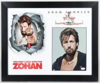 """Adam Sandler Signed """"You Don't Mess With The Zohan"""" 18x22 Custom Framed Photo Display (AutographCOA COA) (See Description) at PristineAuction.com"""