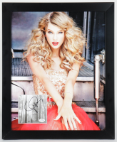 """Taylor Swift Signed """"Folklore"""" 18.25x22.25 Custom Framed CD Cover Display (ACOA COA) (See Description) at PristineAuction.com"""